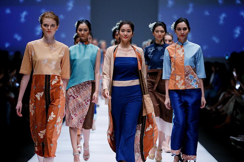 motif batik ginko